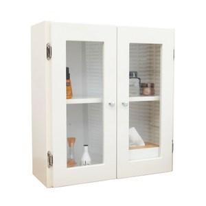 經典雙門加深防水塑鋼浴櫃/置物櫃-白色1入