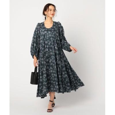 【ノーリーズ】 秋の星影のドレス レディース グリーン系3 38 NOLLEY'S