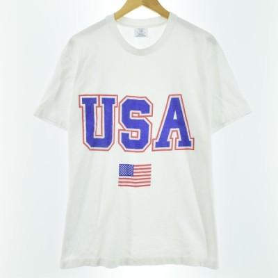 90年代 COLLEGE WARE プリントTシャツ USA製 メンズL /eaa060472