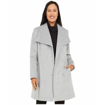 ヴィンスカムート コート アウター レディース Belted Single Breasted Wool Coat V20772X-ZA Light Grey