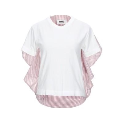MM6 メゾン マルジェラ MM6 MAISON MARGIELA T シャツ ホワイト S コットン 100% / ポリウレタン T シャツ