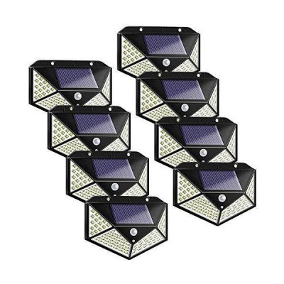 [新品]Solar Motion Lights Outdoor, Permande 100 LED Motion Sensor Security Light, Waterproof Solar Powered Fence Wall Lights for Patio