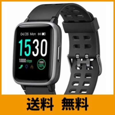スマートウォッチ 腕時計 Yamay 最新 万歩計 心拍計 活動量計 ストップウォッチ IP68防水 最長連続7日間使用可能 画面の明るさ調節