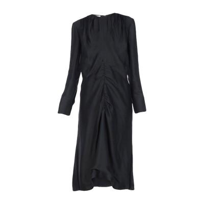 マルニ MARNI 7分丈ワンピース・ドレス ブラック 44 88% アセテート 12% シルク 7分丈ワンピース・ドレス