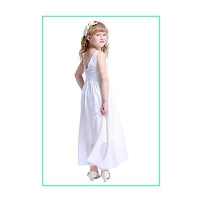 Happy Rose 7-16 Chiffon Girls Junior Bridesmaid Dress White 10並行輸入品