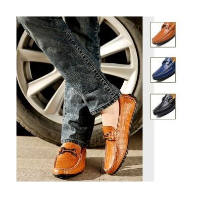 革靴 スリッポン 本革 メンズシューズ ローファー デッキシューズ ドライビングシューズ 牛革 モカシン メンズ靴  カジュアルシューズ