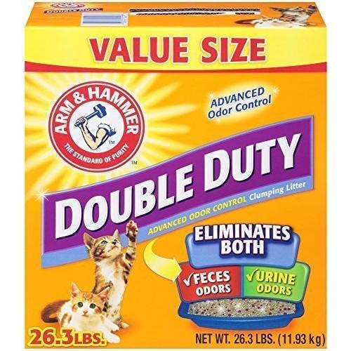 鐵鎚Double Duty 雙效加強除臭貓砂26.3磅【單盒/二盒組免運】『WANG』