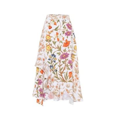 ピーター ピロット Peter Pilotto レディース ひざ丈スカート スカート Floral-printed midi skirt Botanical White
