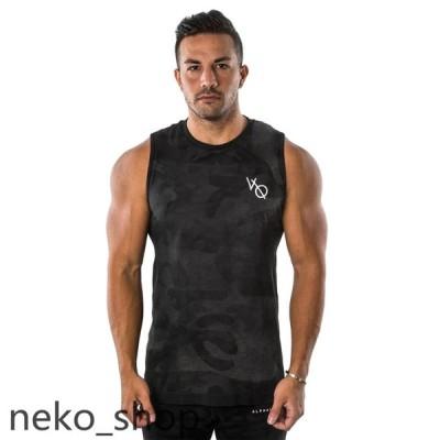 迷彩柄 メンズ ノースリーブ ベスト Tシャツ タンクトップ スポーツウエア ジムウェア トレーニング フィットネス カジュアル 吸汗速乾 夏新作