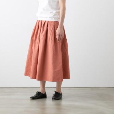 ミロウム リップストップ タック スカート miroum mir-sk200511 レディース ロング ベージュ ピンク くすみピンク グリーン 緑 ブルー 青