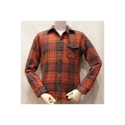 HV-12-レッド-バッファローチェックシャツ12長袖-HV12-DELUXEWARE-デラックスウエアネルシャツ長袖・デラックスウエアシャツ