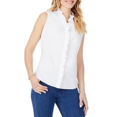 フォックスクラフト レディース シャツ トップス Gwen Ruffled Sleeveless Shirt