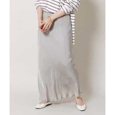 スカート フィブリルツイルマキシスカート