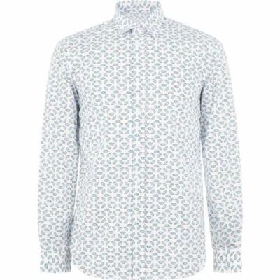ディーゼル Diesel メンズ シャツ トップス print shirt White/Blue