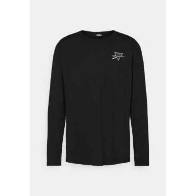 ジン カットソー メンズ トップス TRAINGLE ROSES UNISEX - Long sleeved top - black