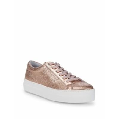 サックスフィフスアベニュー レディース シューズ スニーカー Perforated Leather Sneakers