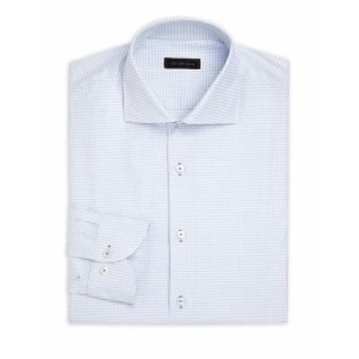 サックスフィフスアベニュー メンズ ドレスシャツ ワイシャツ COLLECTION Printed Dress Shirt