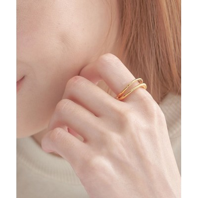me+em select / WAVE DOUBLE LINE RING WOMEN アクセサリー > リング