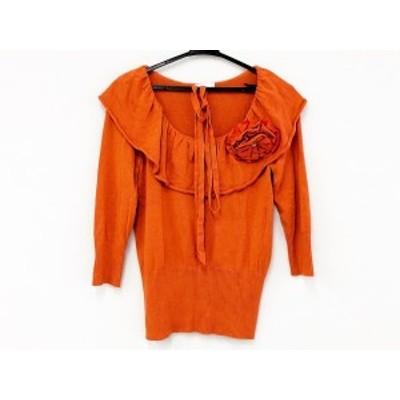 トゥービーシック TO BE CHIC 長袖セーター サイズ2 M レディース - オレンジ フリル【中古】20200721