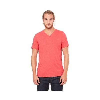 ユニセックス 衣類 トップス Bella+Canvas Comfortable V-Neck Soft Fitted Jersey T-Shirt Style C3005 Tシャツ