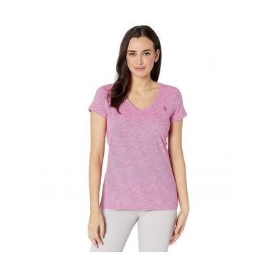 U.S. POLO ASSN. USポロ レディース 女性用 ファッション Tシャツ Spacedye Tee - Rose Violet