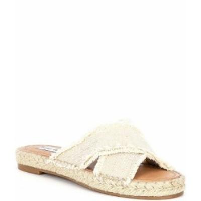 スティーブ マデン レディース スリッポン・ローファー シューズ Zelina Canvas Banded Sandals Natural