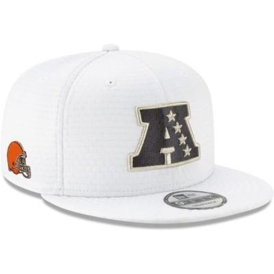 ユニセックス スポーツリーグ フットボール Cleveland Browns New Era AFC Pro Bowl 9FIFTY Adjustable Snapback Hat - White - OSFA