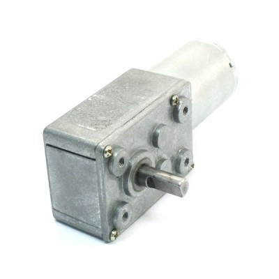 uxcell DCウォームギヤモーター 高トルク減速機のウォームギヤモーター 12V 3500 r/min JSX5300-370