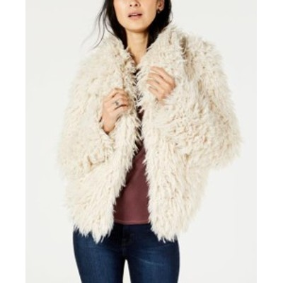 lucky ラッキー ファッション 衣類 Lucky Brand Womens White Size XS Faux Fur Knit Open Front Jacket