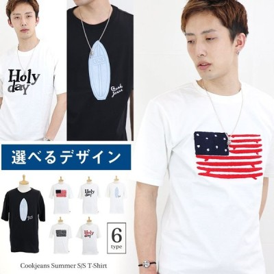プリント 半袖 Tシャツ メンズ ティーシャツ 半袖Tシャツ 半T アメカジ アメリカ サーフ ワッペン トップス