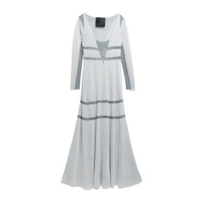 PHILIPP PLEIN ロングワンピース&ドレス グレー S レーヨン 80% / ポリエステル 20% ロングワンピース&ドレス