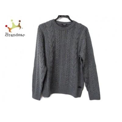 バーバリーロンドン 長袖セーター サイズM メンズ 美品 - ダークグレー クルーネック 新着 20200603