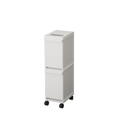 トンボ セパ SIAA抗菌加工 多段スリムペール 2段 ホワイトグレー【幅20.5×奥行29.5×高さ72.5cm 10L×2】