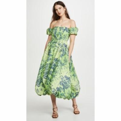 スタウド STAUD レディース ワンピース ワンピース・ドレス Papillon Dress Feather Tree Green