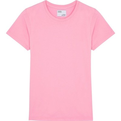 カラフルスタンダード COLORFUL STANDARD レディース Tシャツ トップス Pink Cotton T-Shirt Pink