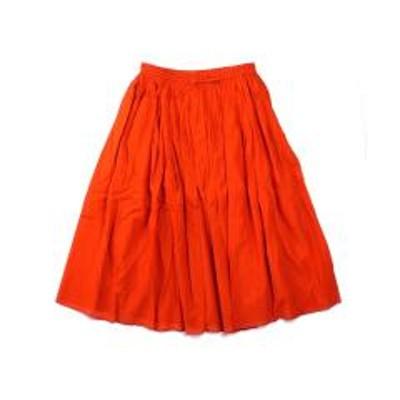 SOIL10%OFFクーポン対象商品 ソイル ギャザースカート ロングスカート コットンスカート GATHERED SKIRT SOIL NSL19005 1(S/M) FLAME ORANGE(640) クーポンコード:7CLY8DW
