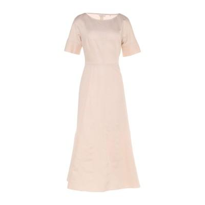 GUGLIELMINOTTI 7分丈ワンピース・ドレス ベージュ 48 リネン 54% / コットン 46% 7分丈ワンピース・ドレス