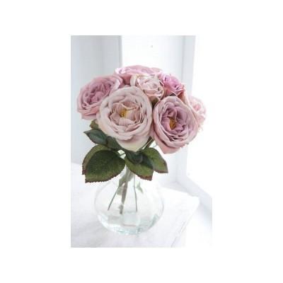 日限定10 造花 COVENT パープル ローズブーケ パープル TT-02|造花 バラ 6束 造花 花材「は行」 バラ