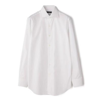 【シップス/SHIPS】 SD: ALBINI バンド ソリッド ワイドカラーシャツ