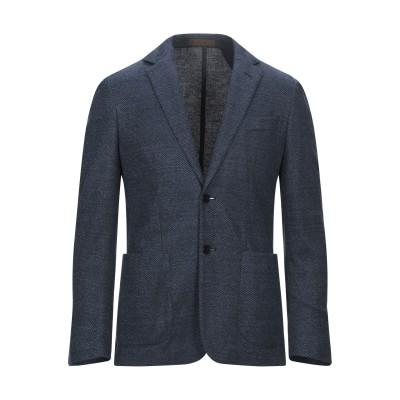 CORNELIANI ID テーラードジャケット ブルー 48 コットン 62% / リネン 38% テーラードジャケット