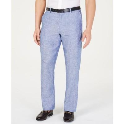 タッソ エルバ Tasso Elba メンズ ボトムス・パンツ 100% Linen Pants Blue Combo
