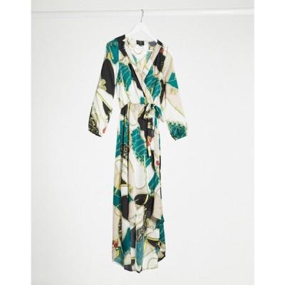 アックスパリス AX Paris レディース ワンピース ラップドレス ワンピース・ドレス Ax Paris Chain Print Wrap Dress マルチカラー