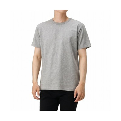 【マックハウス】 NAVY ネイビー コットン天竺Tシャツ MH/03670SS メンズ グレー M MAC HOUSE