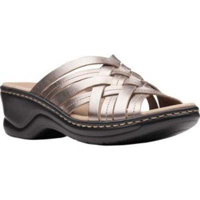 クラークス Clarks レディース サンダル・ミュール シューズ・靴 Lexi Selina Slide Pewter Metallic