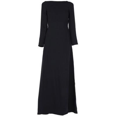 ヴァレンティノ VALENTINO ロングワンピース&ドレス ブラック 38 シルク 100% ロングワンピース&ドレス