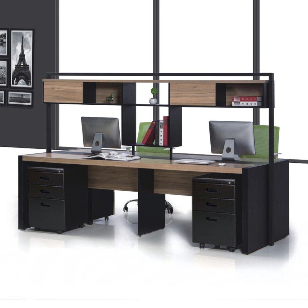 華為書櫃式(前置)4人屏風工作站/辦公桌