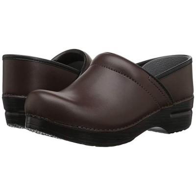 Dansko Professional Leather レディース Clogs Chocolate Leather