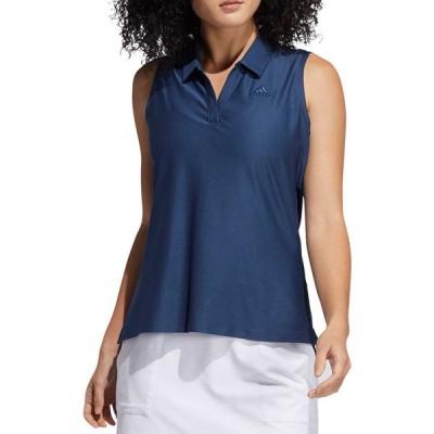 アディダス adidas レディース ノースリーブ ポロシャツ トップス Go-To Sleeveless Polo Shirt Crew Navy