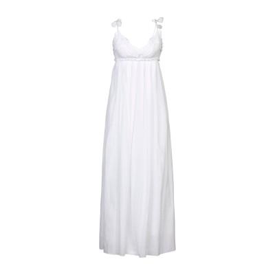 ドンダップ DONDUP 7分丈ワンピース・ドレス ホワイト 38 コットン 100% 7分丈ワンピース・ドレス