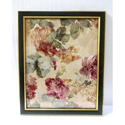 イタリア製額 フレーム 花柄ファブリック アートパネル 壁掛け アウトレット BZ-F7